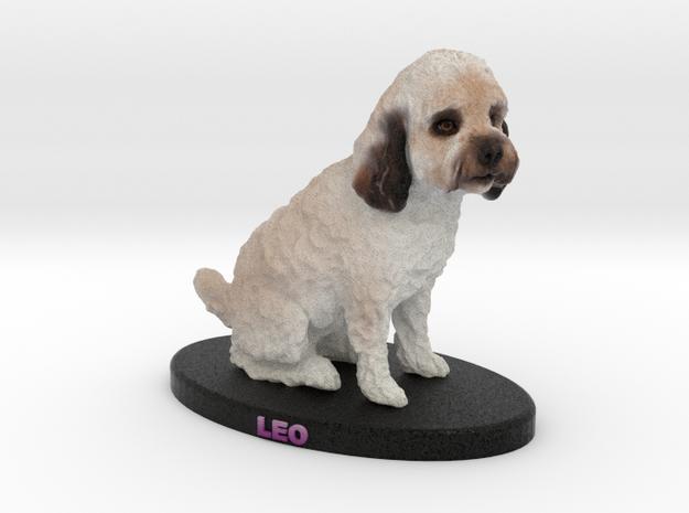 Custom Dog Figurine - Leo in Full Color Sandstone