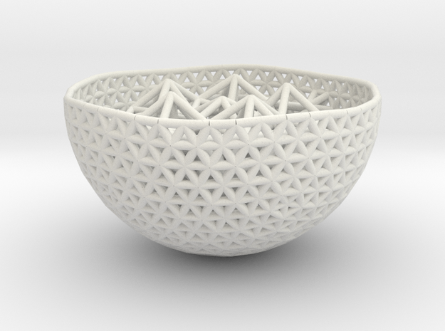Cell Sphere 10 - Suspended Spiky in White Strong & Flexible
