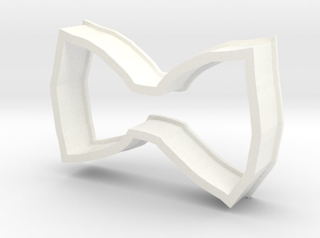 Bow Cookie Cutter in White Strong & Flexible Polished