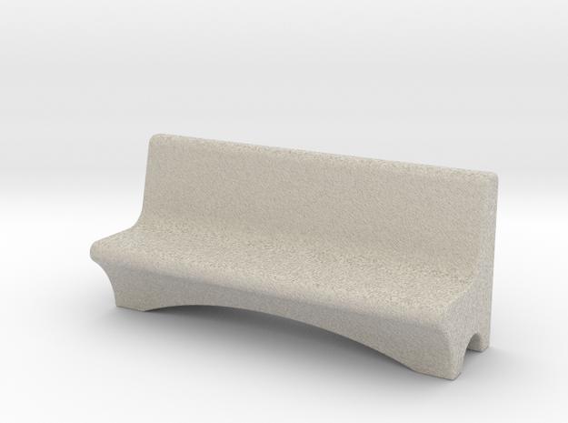 HO Scale Concrete Bench in Sandstone