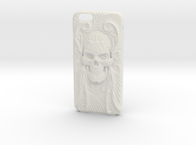 El Cráneo Sola iPhone 6 Case in White Strong & Flexible