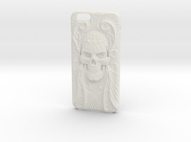 El Cráneo Sola iPhone 6 Case in White Natural Versatile Plastic