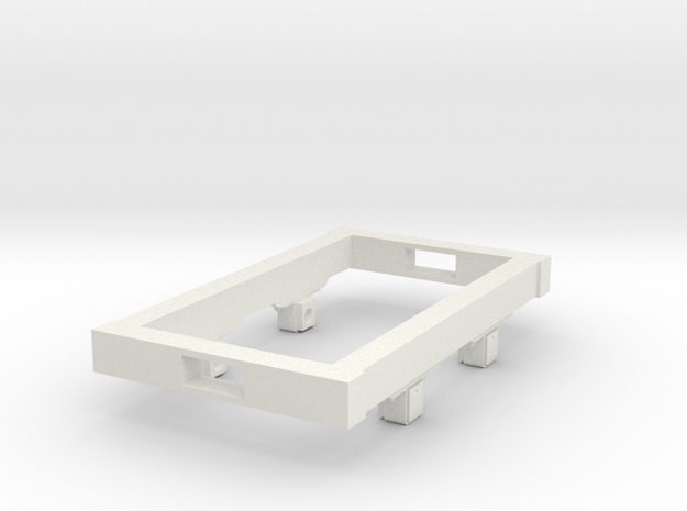 Gn15 small 5ft wagon chassis in White Natural Versatile Plastic