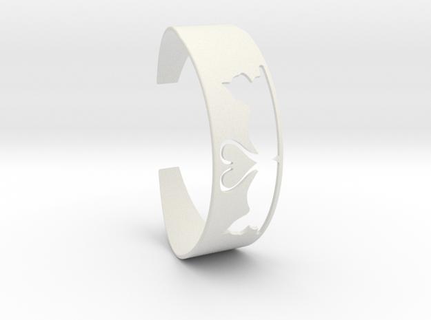 Bracelet Cats Heart in White Strong & Flexible