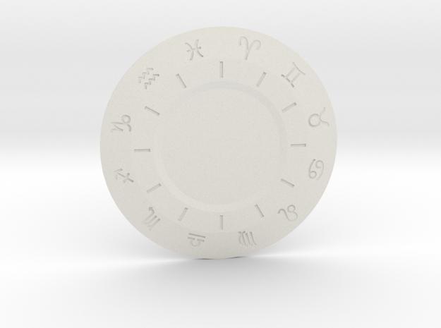 Zodiac Medallion in White Natural Versatile Plastic