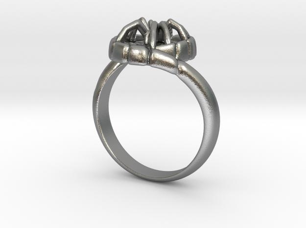 SPIDER Statement Designer Ring  in Natural Silver