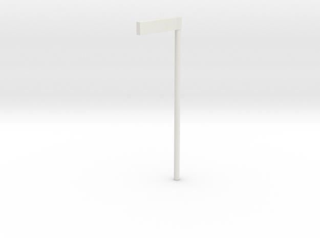 """Vejskilt """"vejnavn"""" 1/87 in White Natural Versatile Plastic"""