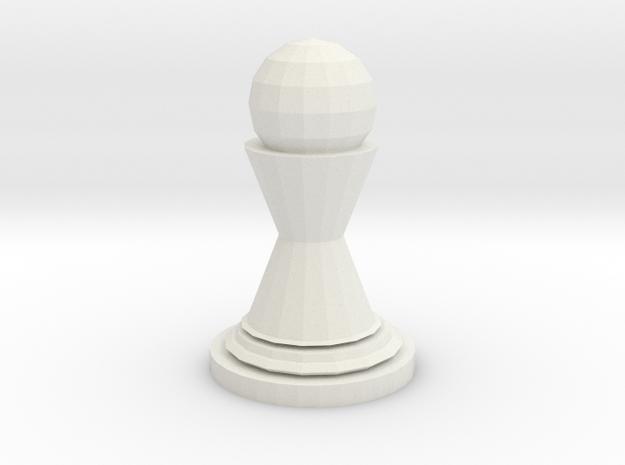 Pawn in White Natural Versatile Plastic