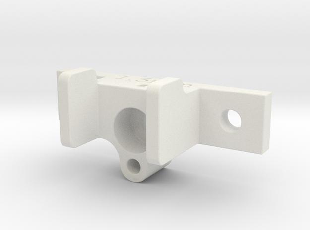RC Servo holder type B in White Strong & Flexible