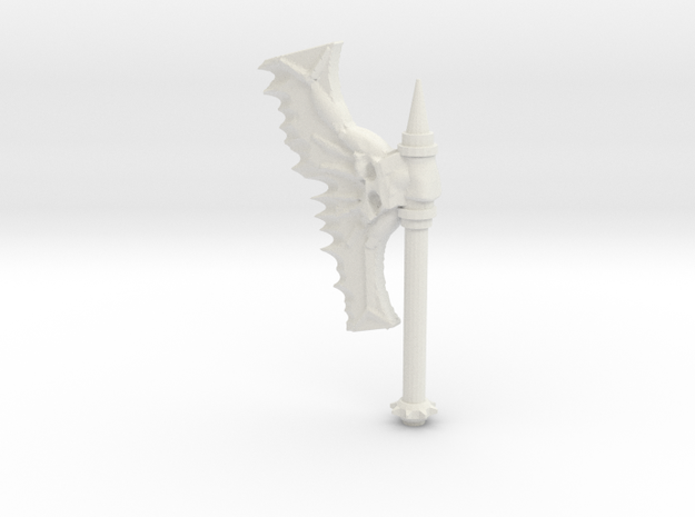 Daemonic Axe 02 Large in White Strong & Flexible: Large