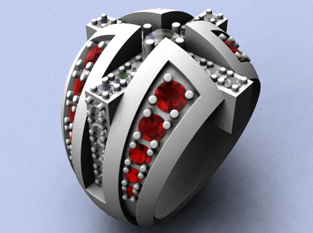 Naughty and Nice Ring - Size 11 1/2 (21.08 mm) in Natural Silver