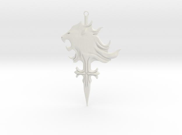Griever Emblem (keychain size) V1 in White Natural Versatile Plastic