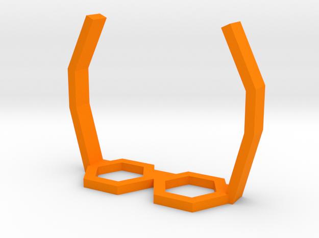 Cork Dorks™ Pentagonal Glasses in Orange Strong & Flexible Polished