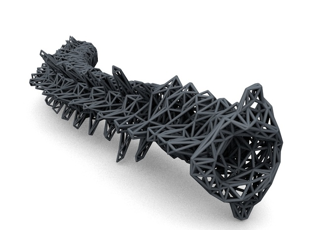 Life Size Poly Spline - Skeleton 3d printed Top View
