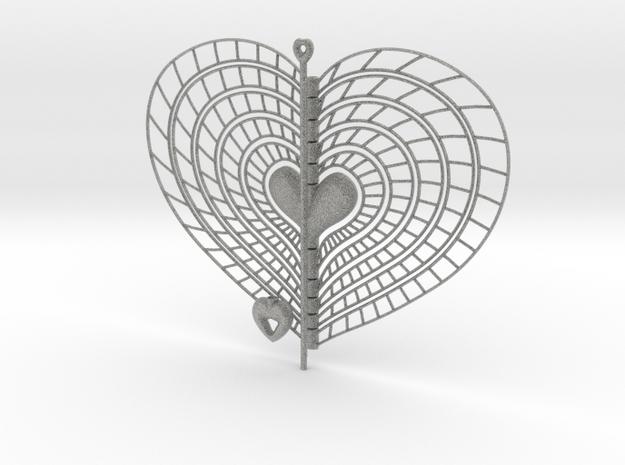 Heart Swap Spinner Spiral Ribs - 15cm 3d printed