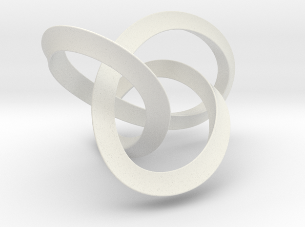 Large Mobius Figure 8 Knot in White Strong & Flexible