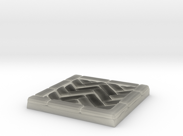 Brick's floor 1x1 in Transparent Acrylic