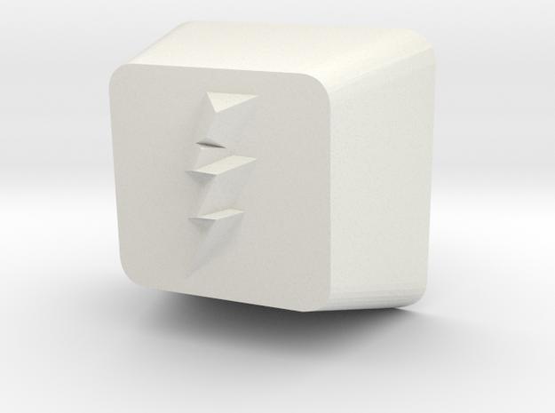 Lightning Bolt Cherry MX Keycap in White Natural Versatile Plastic