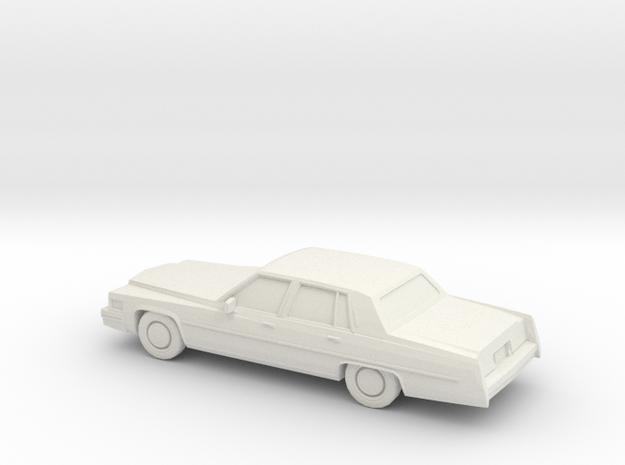 1/87 1977 Cadillac Fleetwood Brougham in White Natural Versatile Plastic