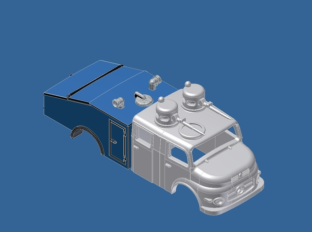 HO Gauge 1:87 Wasserwerfer 4 Mercedes in Smooth Fine Detail Plastic
