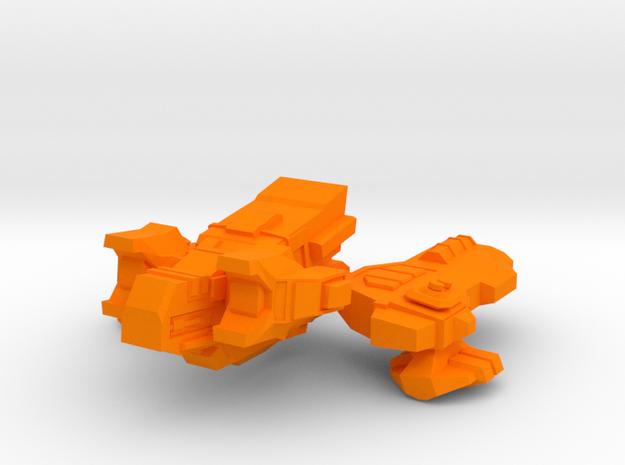 Spacecraft07 in Orange Processed Versatile Plastic