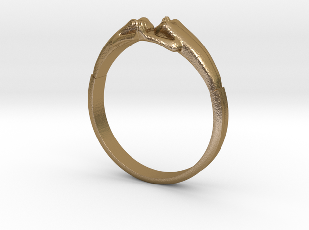 Frogs Ring size 8 3d printed