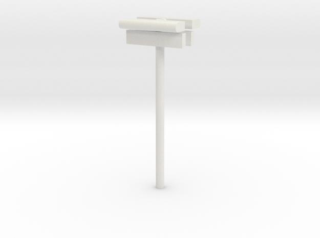 1/160 - DSB Stations lampe (dobbelt) med stations  in White Natural Versatile Plastic