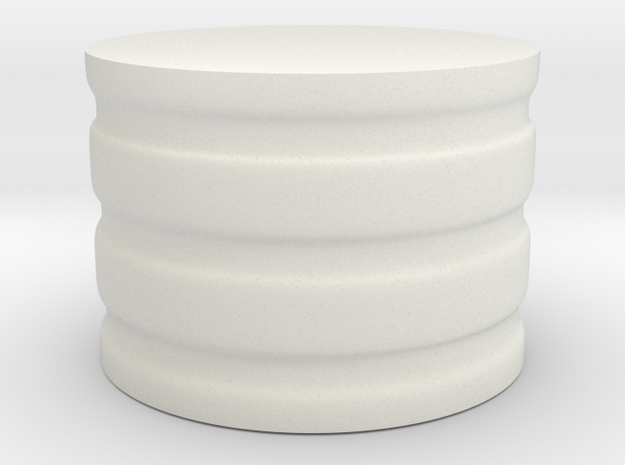 28mm miniature display stand Round in White Strong & Flexible