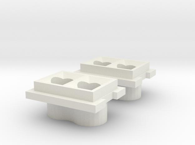 JK Stock Tail Light 5mm in White Natural Versatile Plastic