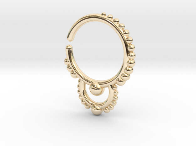 Ear/Nose Hoop in 14K Yellow Gold