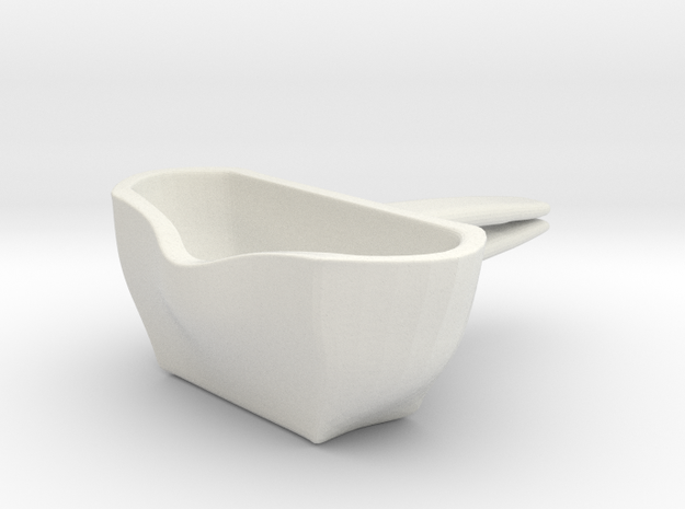 Voituré 'M' - Car Interior Flower Pot in White Strong & Flexible