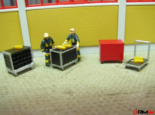 HO/1:87 Rollcontainer set 1a (without bottles) kit in Smooth Fine Detail Plastic