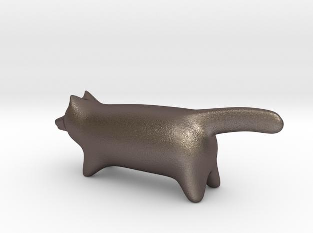 Fox in Polished Bronzed Silver Steel