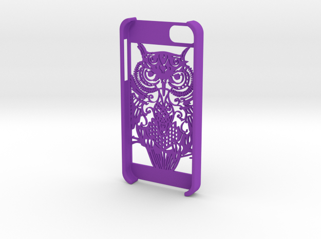 iphone 5 - Owl design  in Purple Processed Versatile Plastic