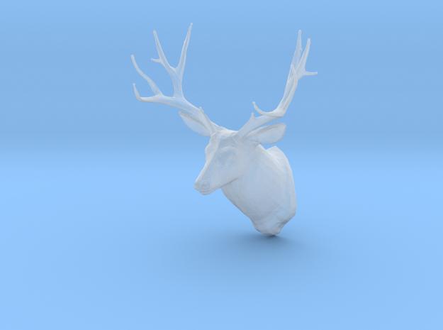 Miniature 1:48 Deer Head in Smooth Fine Detail Plastic