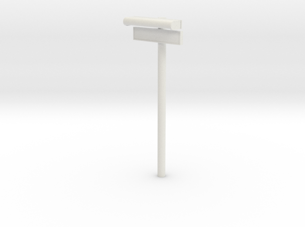 1/32 - DSB Stations lampe med stations skilt (VIA) in White Natural Versatile Plastic