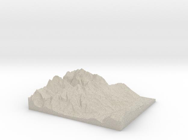 Model of Haldensteiner Calanda in Natural Sandstone