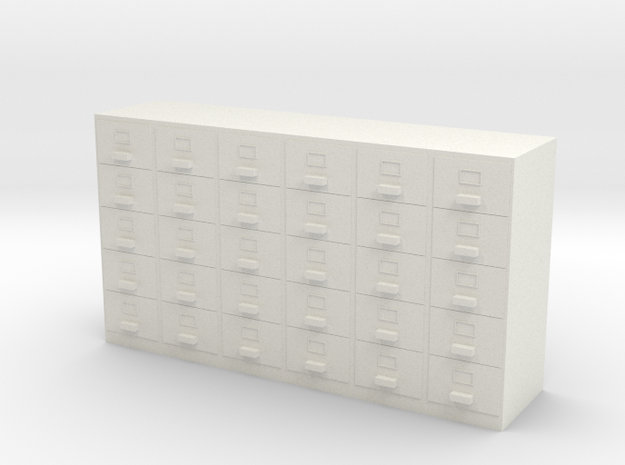 Miniature 1:48 Filing Cabinet