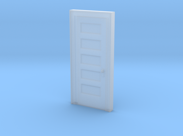 "Miniature 1:48 5 Panel 30"" Door in Smooth Fine Detail Plastic"