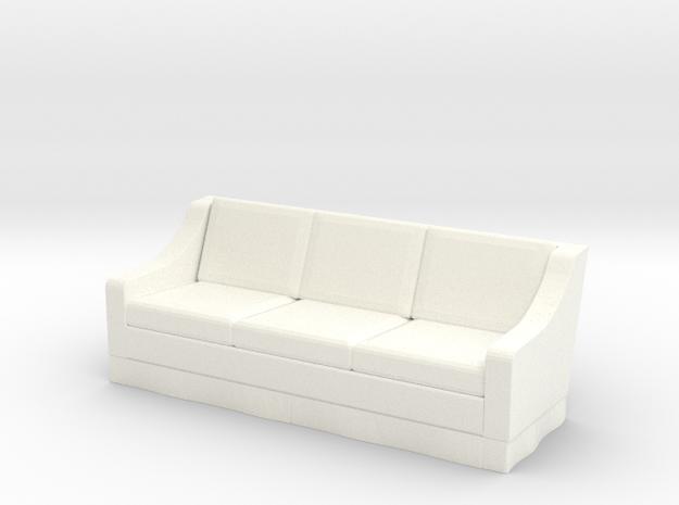 1:48 Skirt Sofa in White Processed Versatile Plastic