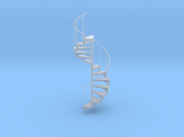 Miniature 1/1:24 Spiral Stair (Right Hand) in Smooth Fine Detail Plastic