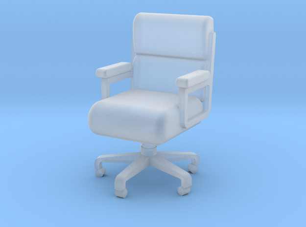 Miniature 1:48 Leather Office Chair in Smooth Fine Detail Plastic