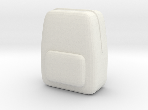 Student School Bag Custom Board Game Piece  in White Natural Versatile Plastic