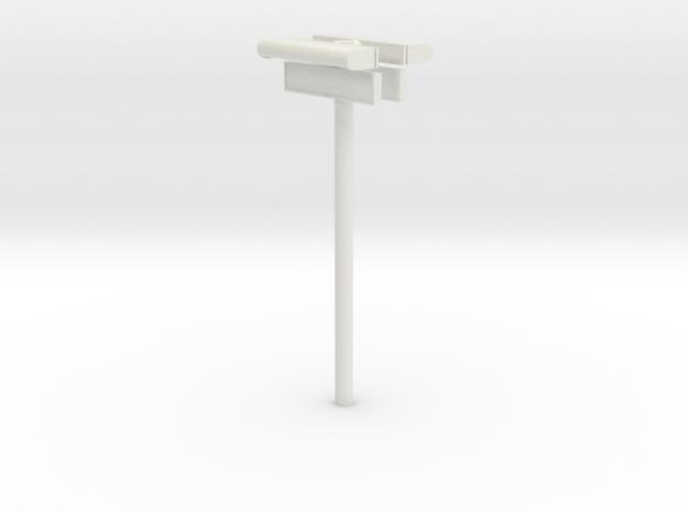 1/22,5 - DSB Stations (dobbelt) lampe med stations in White Natural Versatile Plastic
