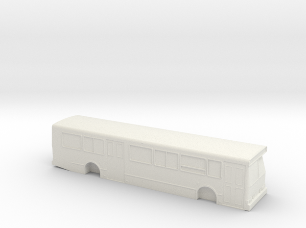 HO scale orion v bus in White Natural Versatile Plastic
