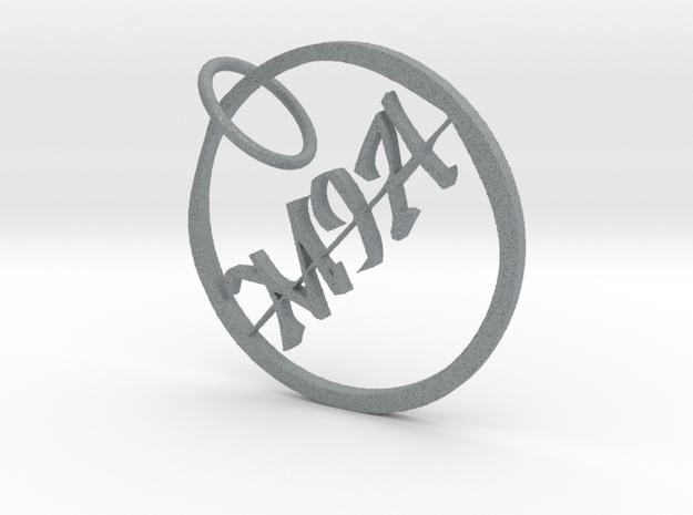 Mia Name Pendant in Polished Metallic Plastic