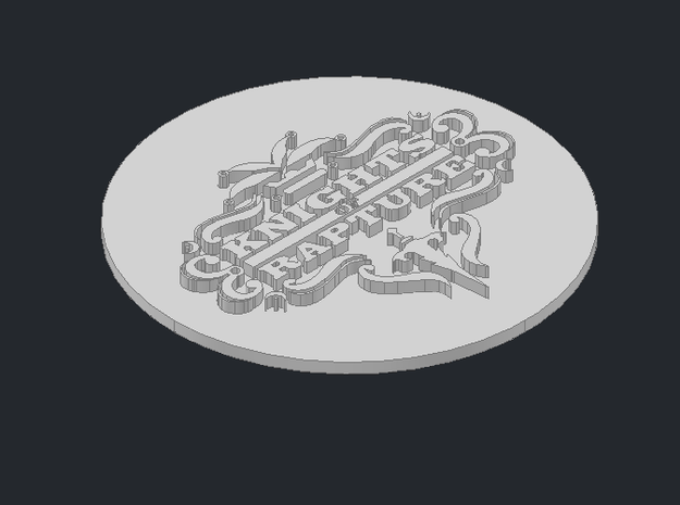 Knights of Rapture paperweight 3d printed