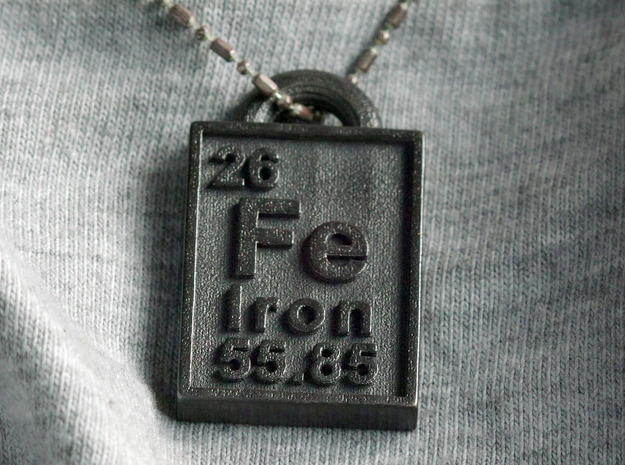 Iron Periodic Table Pendant 3d printed