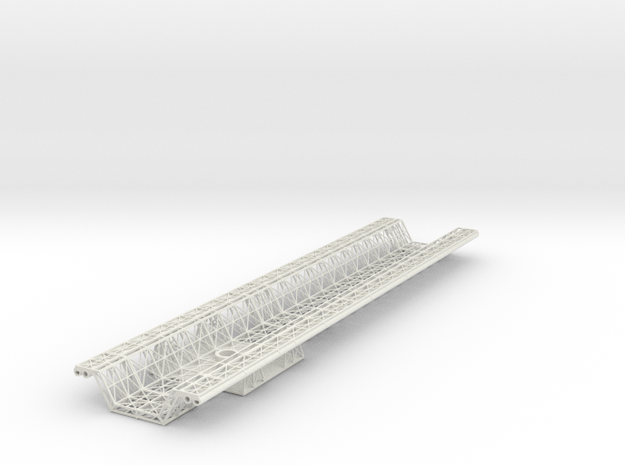 Spine Lower Mid V0.8 (repaired) in White Natural Versatile Plastic