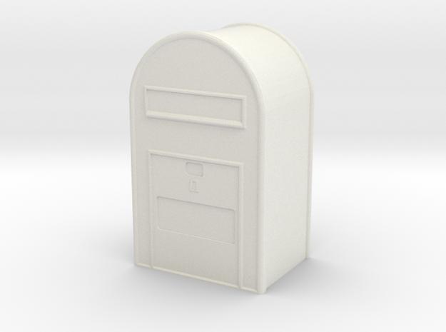 1/160 Post Danmark - Postkasse in White Natural Versatile Plastic